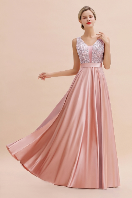 Evening dress long pink | Chiffon dresses prom dresses
