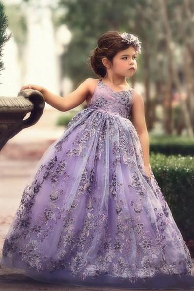 Blumenmädchenkleider für Kinder | Blumenmädchen Kleid Spitze