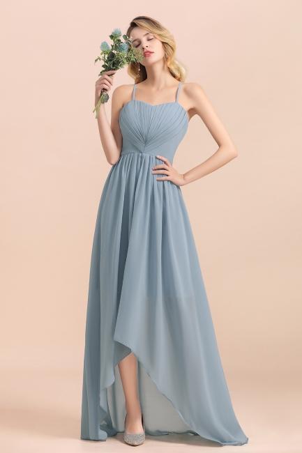Brautjungfernkleider Lang Blau | Chiffon Kleider Hochzeitsgäste Kleider
