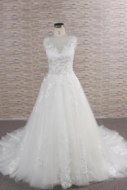 Schlichte Brautkleider mit Spitze | Hochzeitskleider Online Kaufen