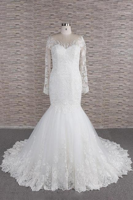 Elegant mermaid wedding dresses | Wedding dress with sleeves