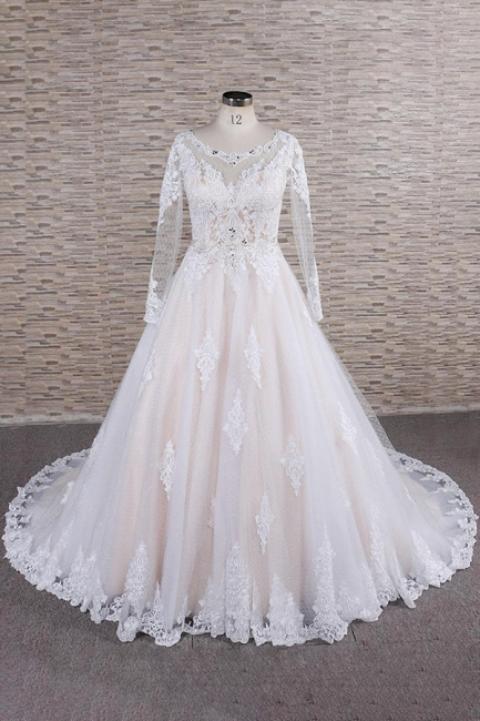 Luxury wedding dresses with lace | Wedding dresses with sleeves