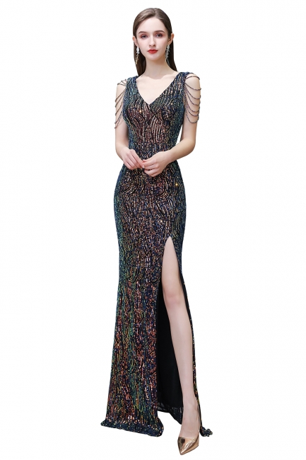 Long glitter prom dresses | Evening dresses black