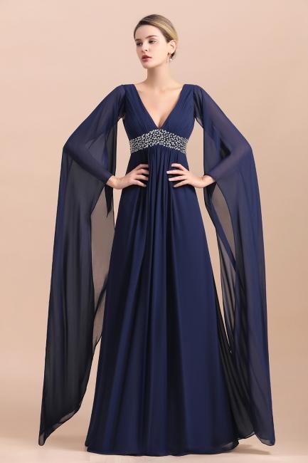 Elegante Brautmutterkleider Dunkel Blau | Hochzeitspartykleider Brautmutter