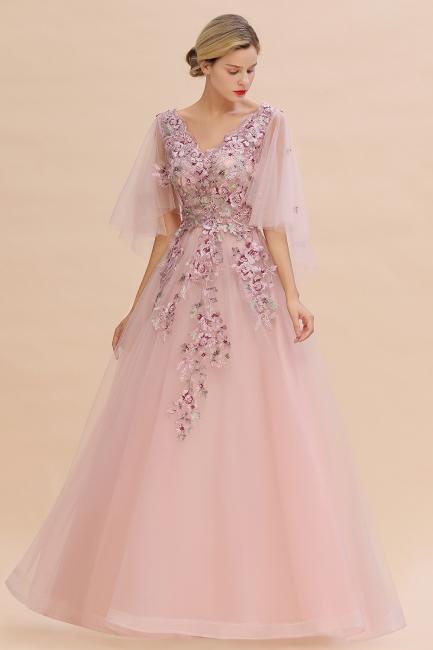 Abendkleid Lang Rosa | Abiballkleider Mit Ärmel
