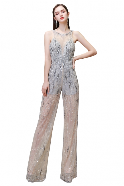 Long glitter prom dresses | Jumpsuit evening dresses cheap