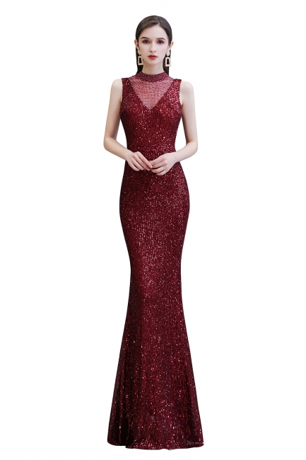 Prom dresses with glitter | Evening dress long red