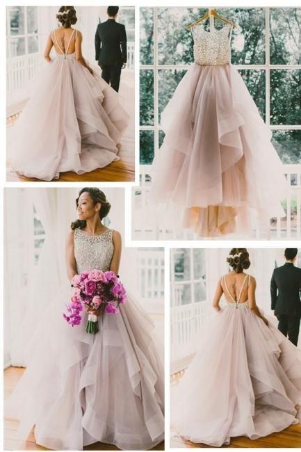 Elegante Brautkleider A linie | Hochzeitskleider V Ausschnitt