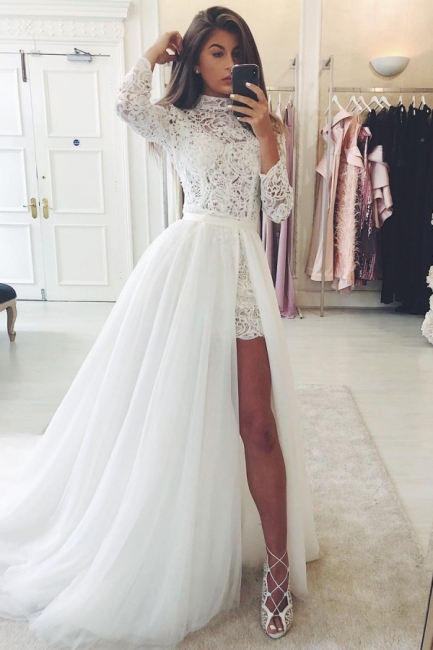 Designer wedding dresses A line | Beautiful wedding dresses with lace