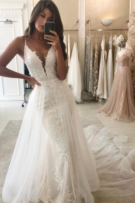 Elegant mermaid wedding dresses | Wedding dresses with lace online