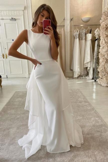 Schlichtes Hochzeitskleid Meerjungfrau | Brautkleider Günstig Online