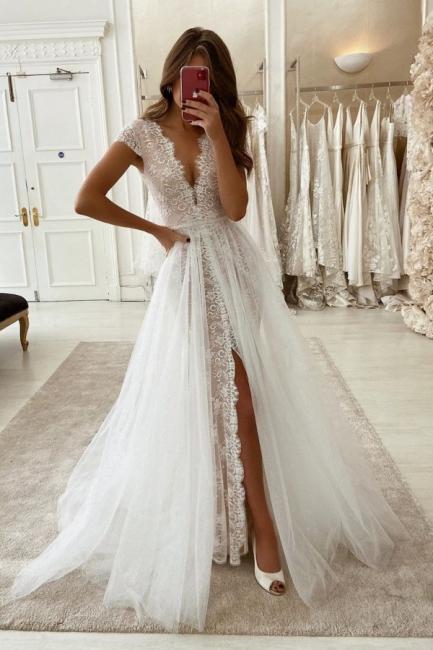 Wunderschöne Brautkleider mit Ärmel | Hochzeitskleider Günstig Online