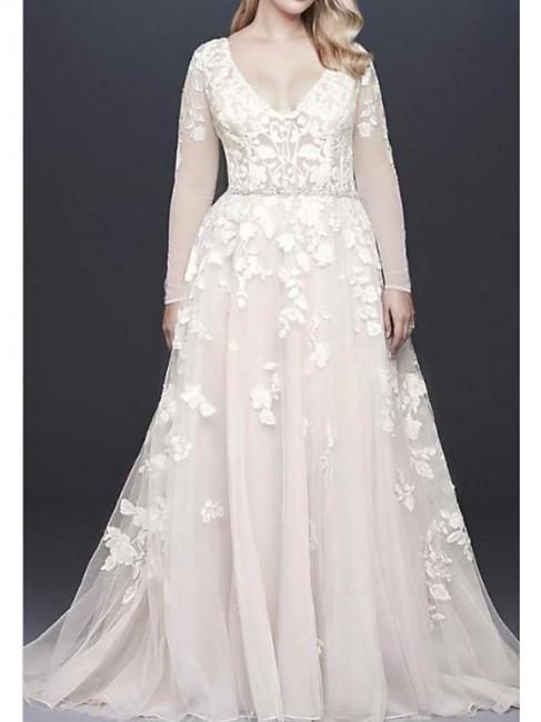 Brautkleider Mit Spitzenärmel | Hochzeitskleider Große Größen