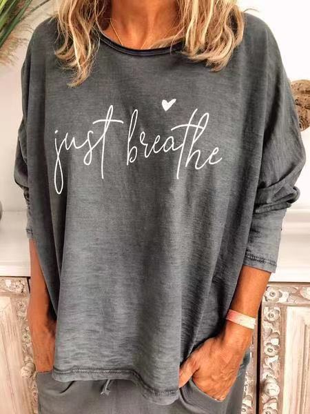 Pullover Grau bedrucken | Sweatshirt Damen