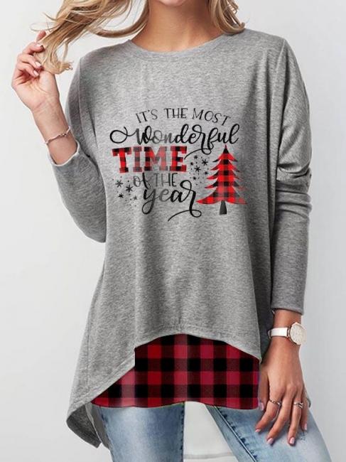 Grau Weihnachtspullover Damen   Lustige Pullover Günstig