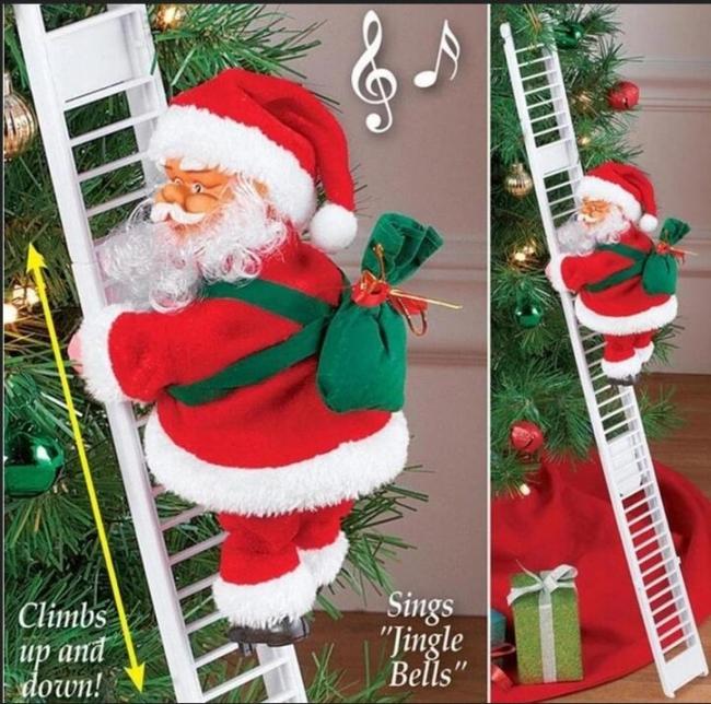 Climbing Santa Claus gift