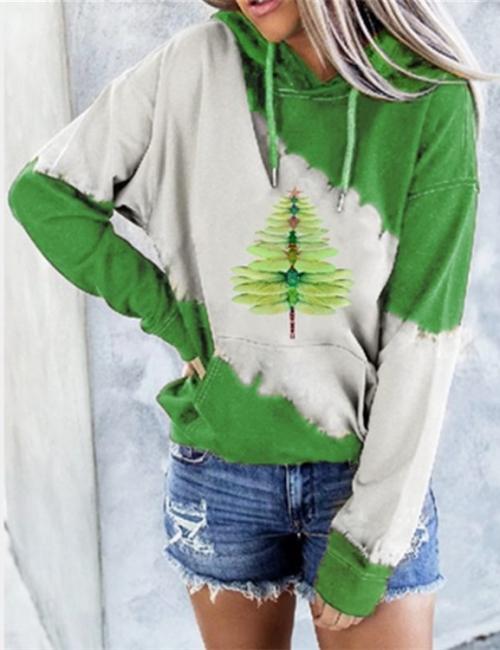 Libelle Weihnachtenbaum Sweetshirt | Weihnachtspullover Damen