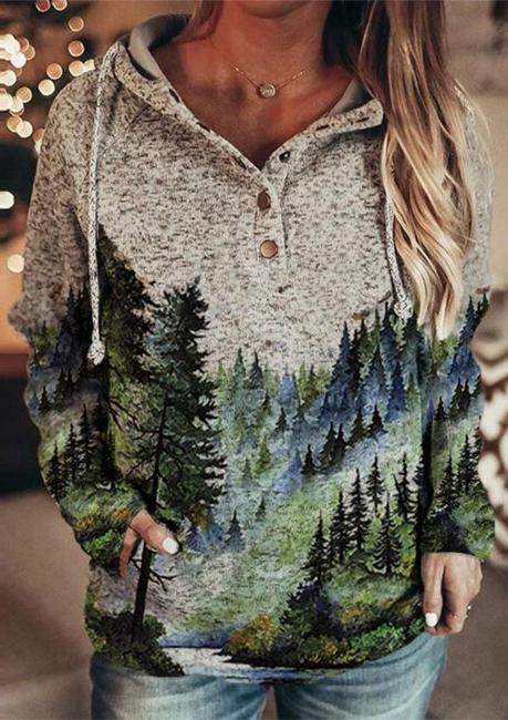 3D Print Pullover Hoodie   Sweetshirt women