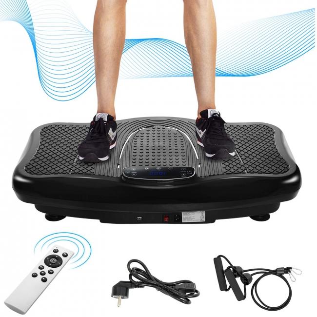 Vibrationsplatte Vibrationstrainer Profi 2D Wipp Vibration Bluetooth inkl Lautsprecher