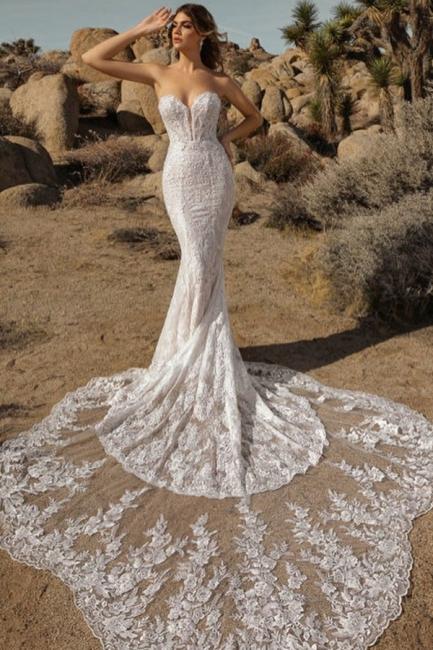 New mermaid lace wedding dress | Wedding dress maternity wear