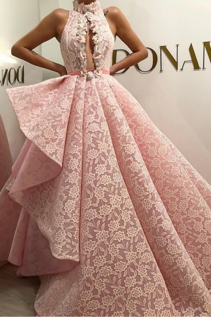 Evening Dress Long Pink Cheap | Evening dress lace