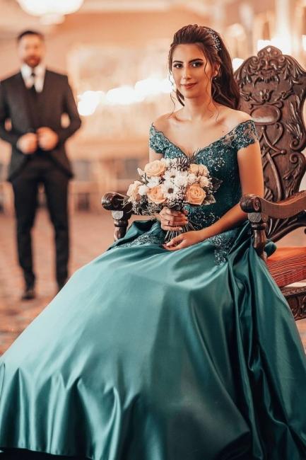 Elegant evening dresses green | Prom dresses long cheap