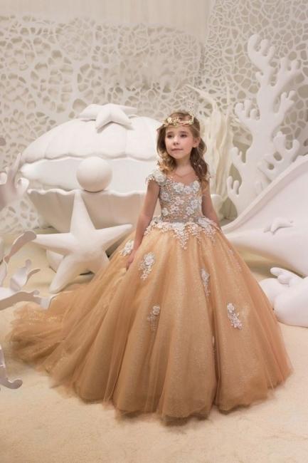 Schlichte Blumenmädchenkleider Günstig | Kinder Hochzeitskleider