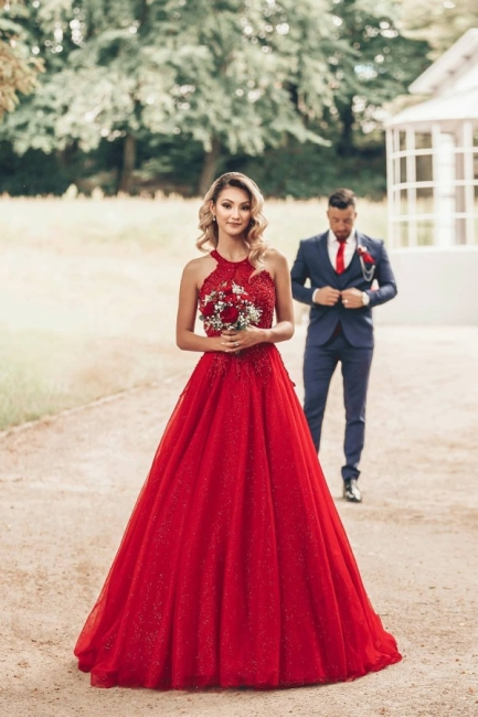 Designer Evening Dresses Long Red | Prom dresses with lace