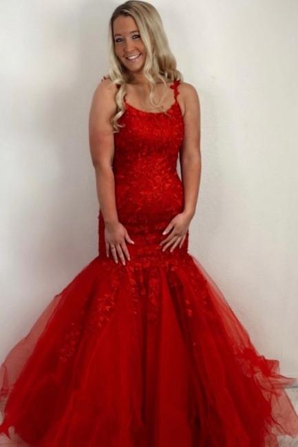 Red Prom Dresses Long Cheap | Evening dresses lace