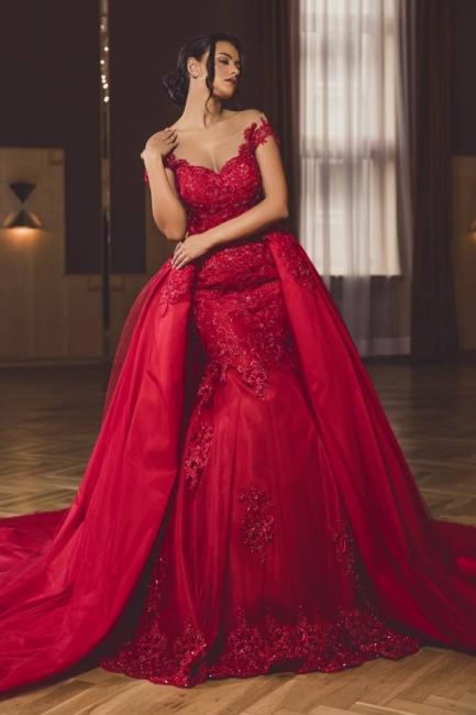 Abendkleid Lang Rot | Abendkleider mit Spitze