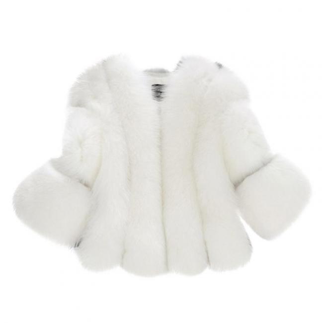 Fur women coat white winter coat cheap