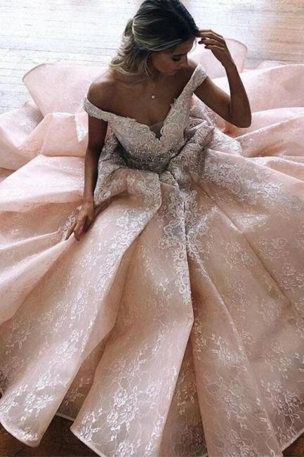 Wunderschöne Brautkleid A Linie | Hochzeitskleider Spitze