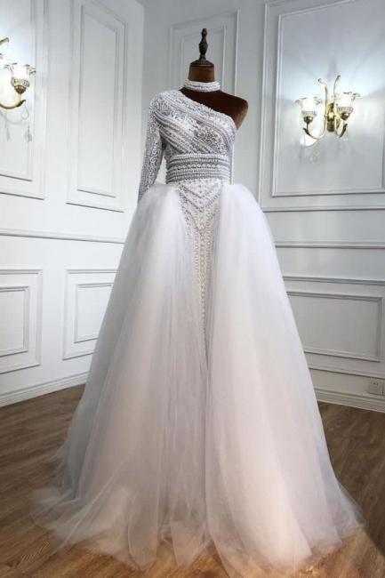 Elegante Abendkleider Lang Weiß | Abiballkleider Mit Ärmel