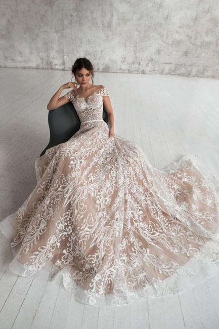 Designer Wedding Dresses A Line | Lace wedding dress maternity wear