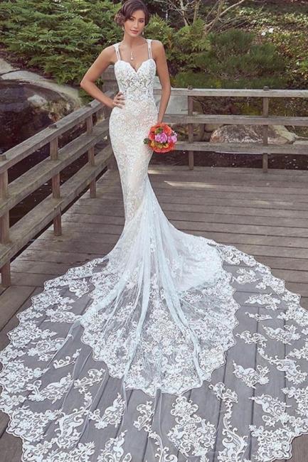 Designer wedding dresses mermaid lace | Wedding dresses cheap
