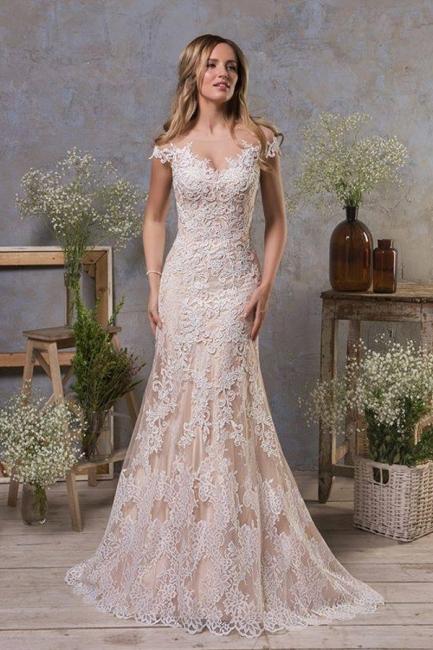 Hochzeitskleid Standesamt | Meerjungfrauen Brautkleid mit Spitze