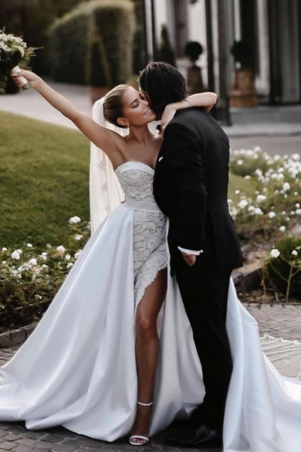 Elegant lace wedding dresses | Wedding dress A line