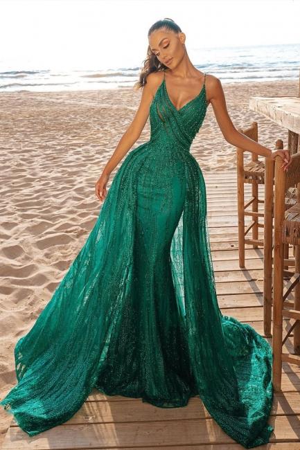 Evening dresses long glitter | Green prom dresses