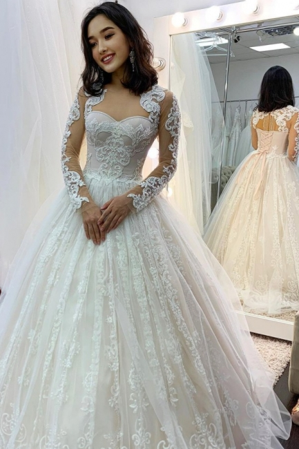 Princess wedding dresses lace | Wedding dresses with sleeves