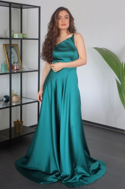 Elegante Abendkleider Lang Günstig | Grünes Abiballkleider Online