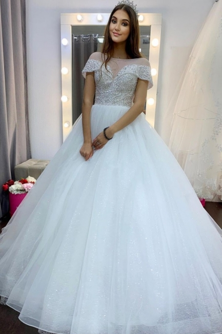 Luxury wedding dress A line | Wedding dresses tulle cheap
