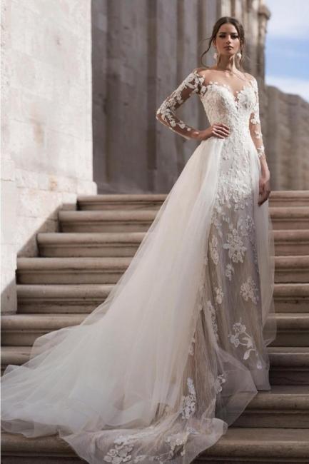 Günstige Hochzeitskleider A Linie | Brautkleid Spitze Kaufen