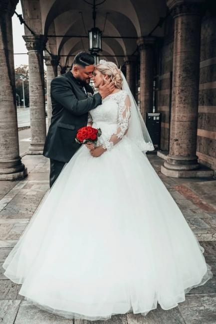 Prinzessin Brautkleider mit Ärmel   Hochzeitskleider Online Kaufen