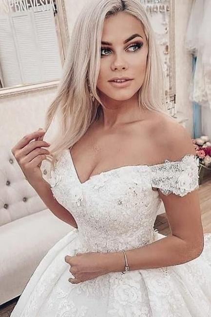 Princess wedding dresses lace | Gorgeous wedding dresses cheap