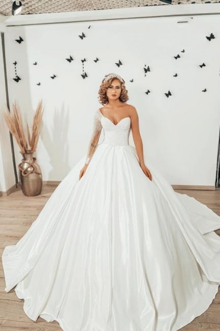 Luxus Brautkleider Prinzessin | Hochzeitskleider mit Ärmel