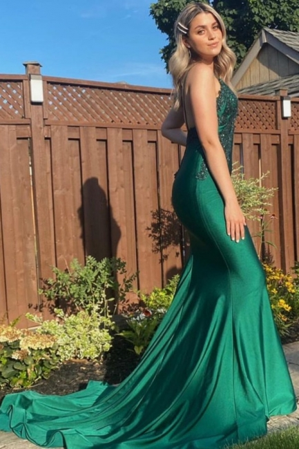 Evening dress dark green | Prom dresses long cheap