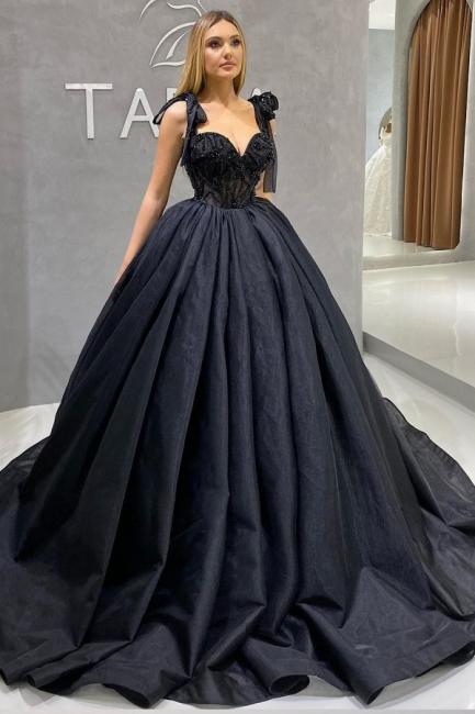 Prinzessin Brautkleider Günstig | Hochzeitskleid Schwarz