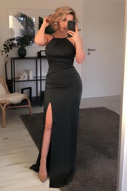 Simple black prom dresses | Evening dresses long cheap