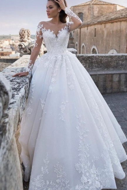 Chic wedding dresses princess | Wedding dresses with lace