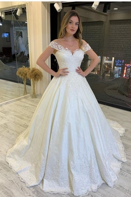 Vintage wedding dress A line | Wedding dresses lace registry office